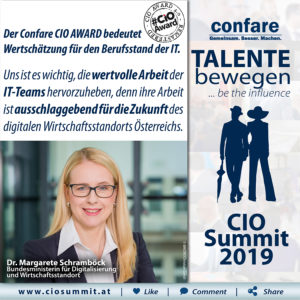 CIO Summit - Margarete Schramböck CIO AWARD