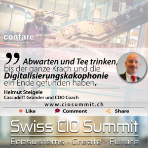Swiss CIO Summit - Helmut Steigele