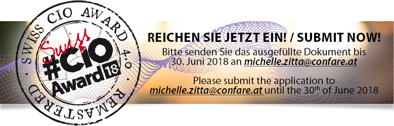 Swiss CIO Award18: Ihre Einreichung / Your Submission