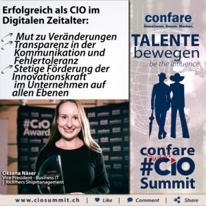 Swiss CIO Summit - Oksana Näser