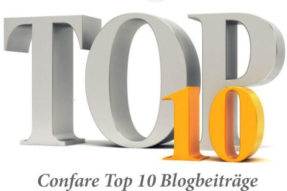 Confare Top 10 Blogbeoträge Juli 2019