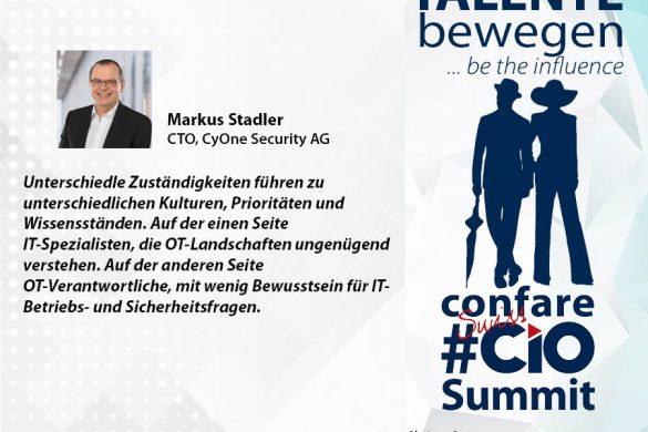 Markus Stadler über unterschiedliche Zuständigkeiten in der Cyber Security und über Sicherheitsbewusstsein