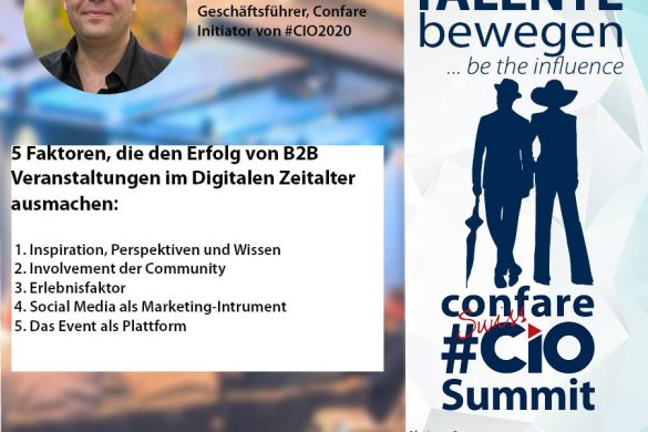 Michael Ghezzo, Geschäftsführer von Confare über die 5 Faktoren die den Erfolg von B2B Veranstaltungen im Digitalen Zeitalter ausmachen.