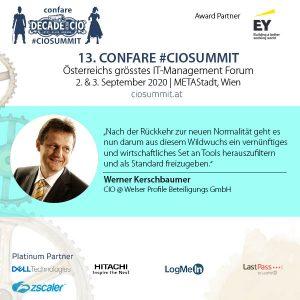 Virtuelle Zusammenarbeit - CIO Werner Kerschbaumer