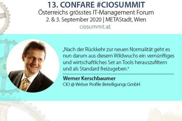 Virtuell Zusammenarbeiten- CIO Werner Kerschbaumer