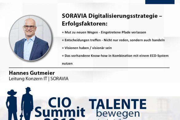 Meme CIO Summit 2019 - Hannes Gutmeier