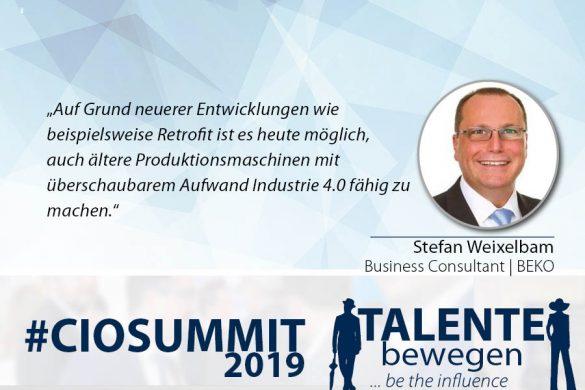 Meme CIO Summit 2019 - Stefan Weixelbam