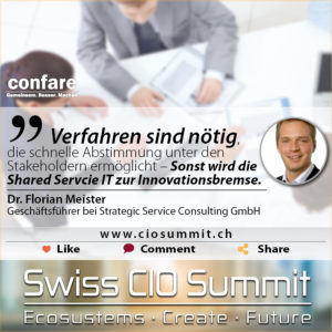 Swiss CIO Summit - Florian Meister - Shared Service IT