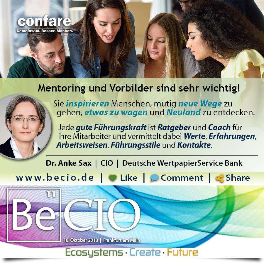 BeCIO Anke Sax - Mentoring und Vorbilder