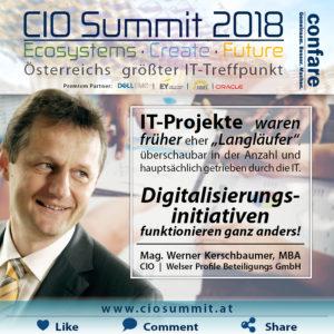 CIO Summit - Digitalisierungsinitiativen funktionieren anders als IT-Projekte