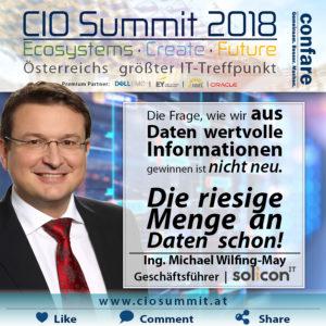 CIO Summit Wilfinger-May Daten sind Öl