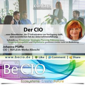 BeCIO Johanna Pfäffle - CIO_vom Dienstleister zur Unternehmensführung