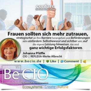 BeCIO Johanna Pfäffle - Wichtige Erfolgsfaktoren für Frauen