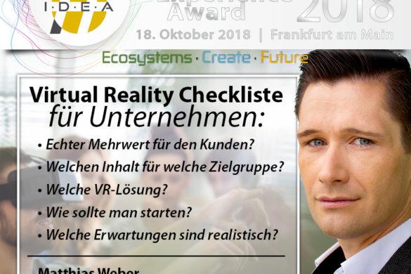 IDEAward 2018 - Matthias Weber _ VR-Checkliste für B2B