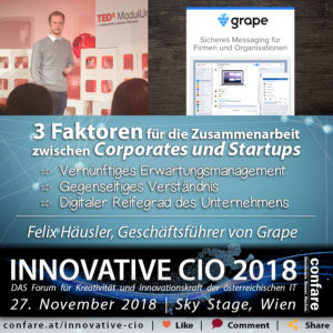 Innovative CIO - 3 Faktoren für Corporates und Startups