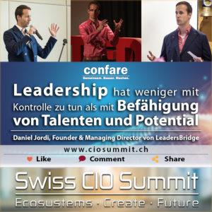 Swiss CIO Summit - Leadership ist Befähigung von Talenten und Potential