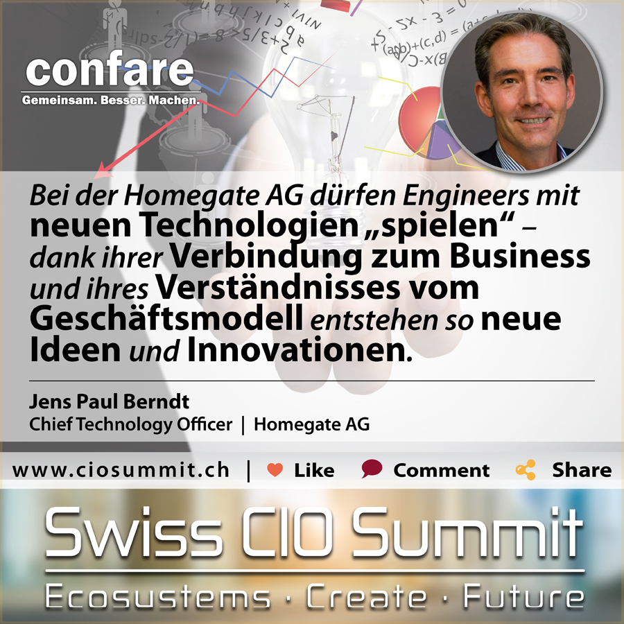 Swiss CIO Jens Paul Berndt