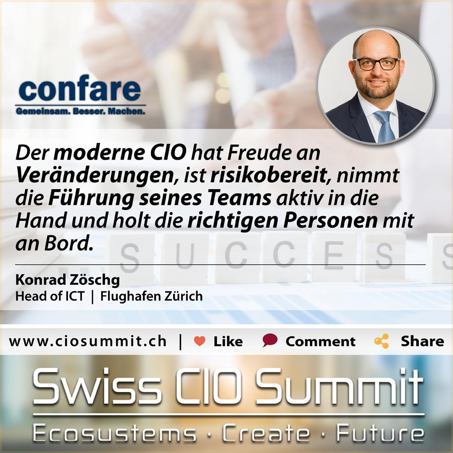 Swiss CIO Konrad Zöschg