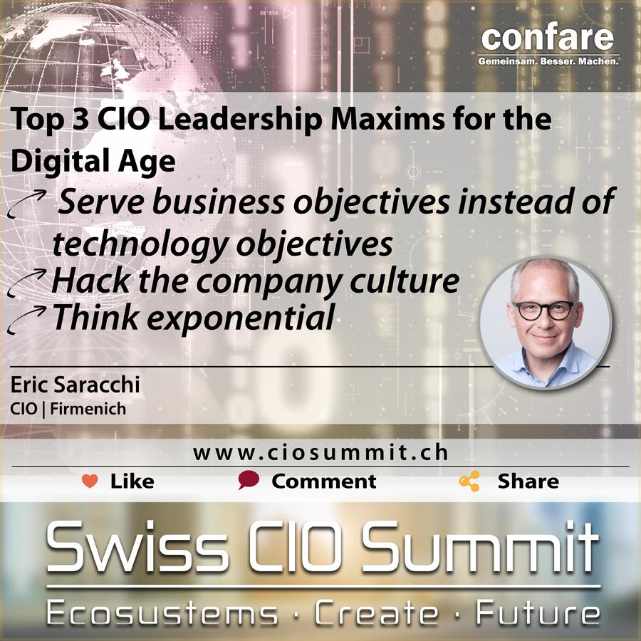 Swiss CIO Eric Saracchi