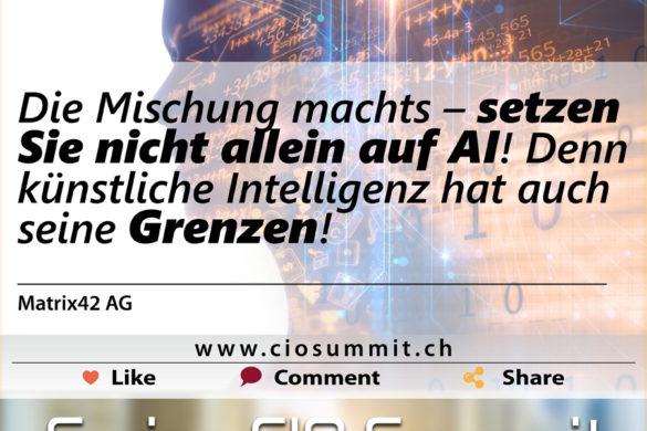 Swiss CIO Künstliche Intelligenz Matrix42