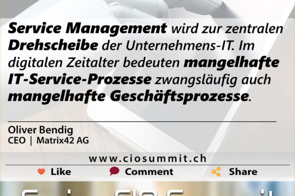 Swiss CIO Service Management