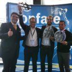 v.l.n.r. Michael Ghezzo(Confare GmbH), Stefan Heizmann(CIO der Gühring KG), Marco Xaver Bornschlegl(Bereichsleiter IT Services & CISO der STRABAG BRVZ GmbH & Co. KG) & Michael Fichtner(CIO des FC Bayern)