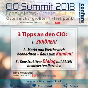 CIO_18: 3 Tipps an den CIO - Messaoud