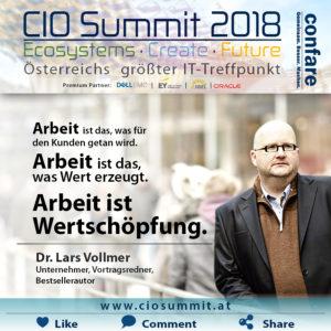 CIO Summit - Vollmer - Arbeit ist Wertschöpfung