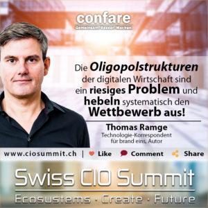 Swiss CIO Summit - Thomas Ramge_Oligopolstrukturen hebeln Wettbewerb aus