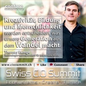 Swiss CIO Summit - Thomas Ramge_Was unsere Generation aus dem Wandel macht