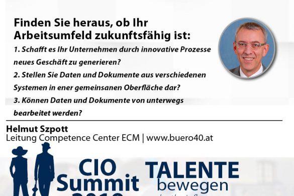 Meme CIO Summit 2019 - Helmut Szpott