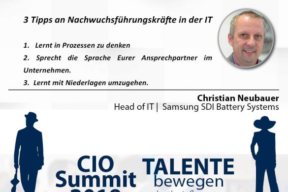 Meme CIO Summit 2019 - Christian Neubauer