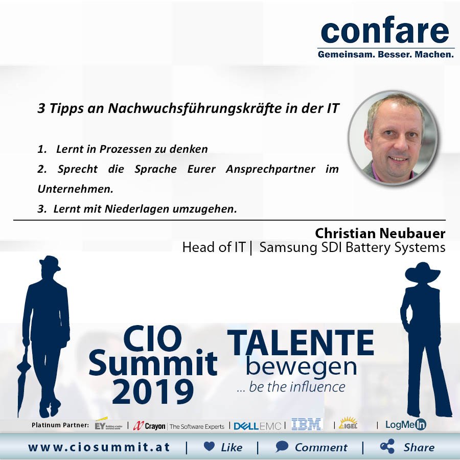 Meme CIO Summit 2019 - Christian Neubauer