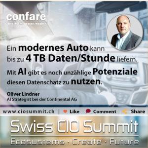 Swiss CIO Summit - Lindner_AI Potentiale nutzen