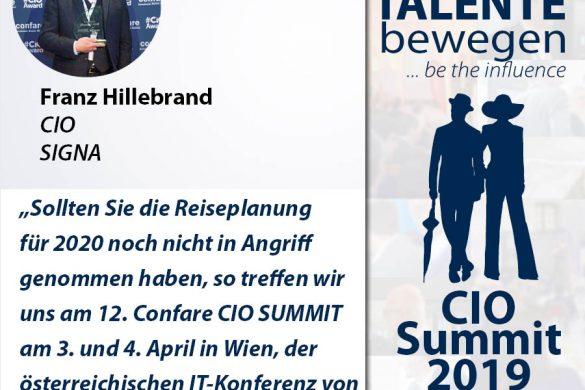 Meme CIO Summit 2019 - Franz Hillebrand