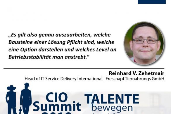 Meme CIO Summit 2019 - Reinhard v. Zehetmair