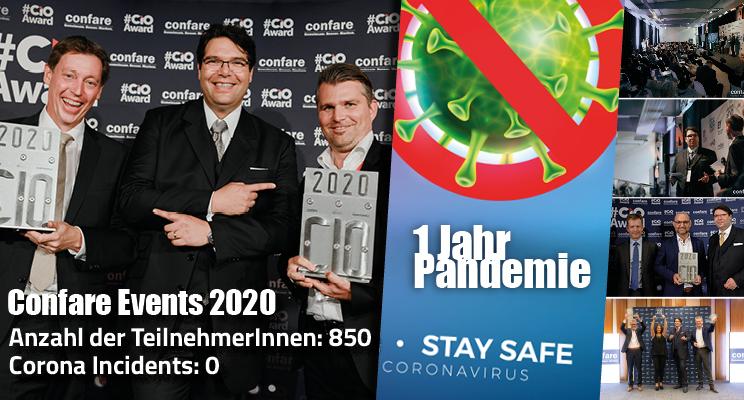 Confare Events 2020: Anzahl der TN: 850 | Anzahl der Corona Infektionen: 0