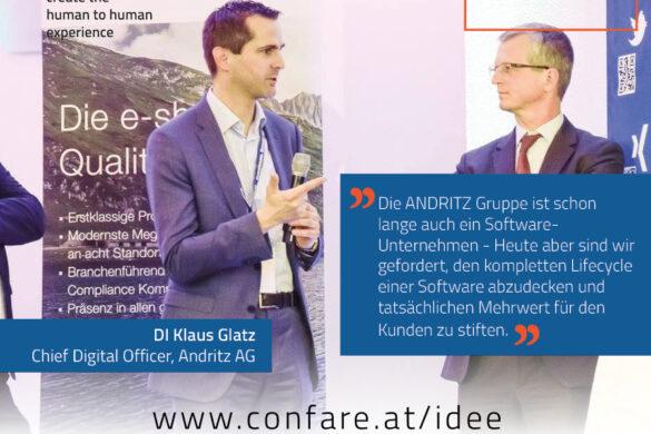 Andritz CDO Klaus Glatz: Software