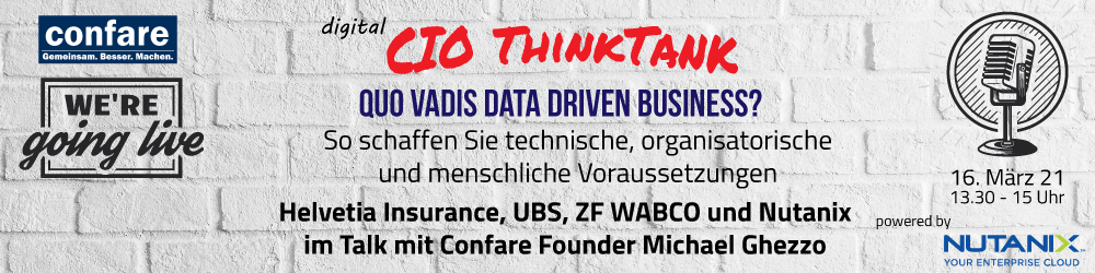 CIO ThinkTank: DATA DRIVEN BUSINESS – WOHIN GEHT DIE REISE?