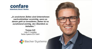 Thomas Grill, Leiter IT-Consulting bei Bacher Systems