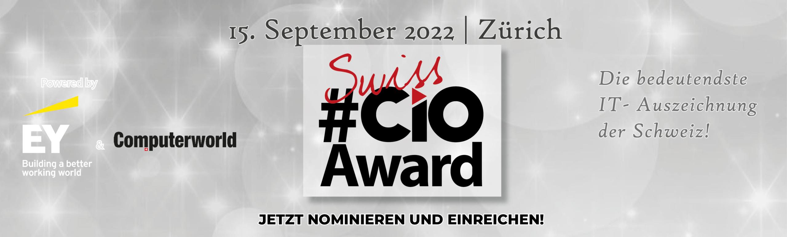 Banner Swiss CIOAward 2022