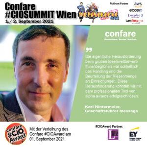 CIOSUMMIT - Karl Hintermeier, Innovationskraft