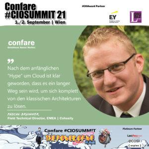 CIOSUMMIT - Pascal Brunner Cohesity