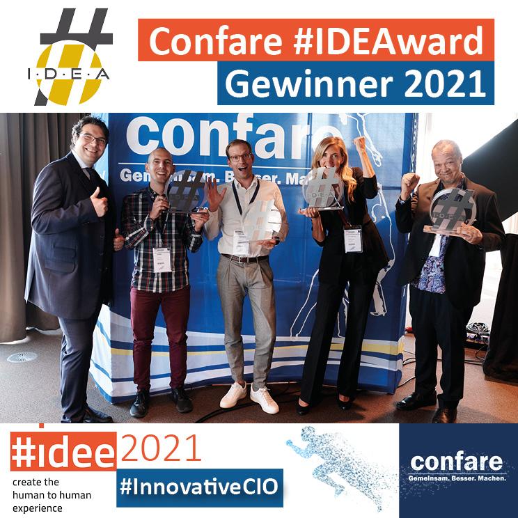 Confare #IDEAward Gewinner 2021