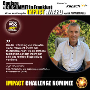 Impact Challenge Nominee Ingo Oberortner