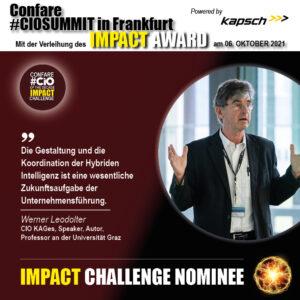 Impact Challenge Nominee Werner Leodolter