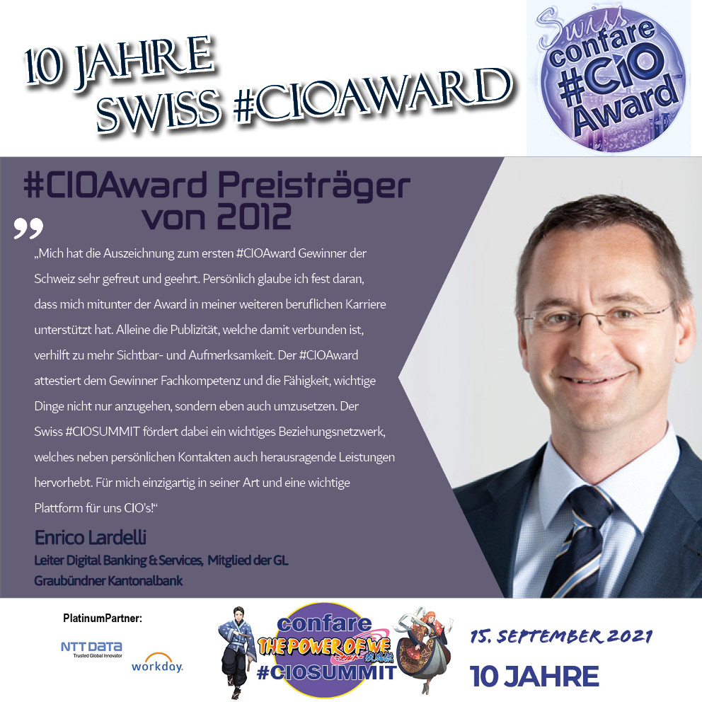 Enrico Lardelli, #CIOAward Preisträger