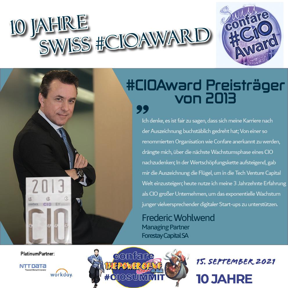 Frederic Wohlwend, #CIOAward Preisträger