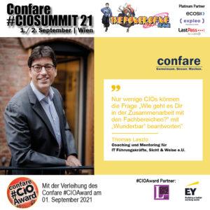 Thomas Laszlo, Coaching und Mentoring für CIOs